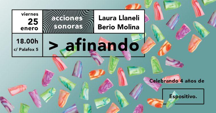 Afinando - Laura Llaneli y Berio Molina en Espositivo
